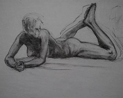Male Nude Drawing Drawing - Iphis by Chris  Riley