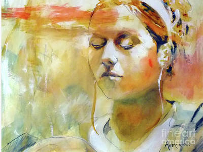 Music Ipod Painting - iPod Girl by Lee Allen