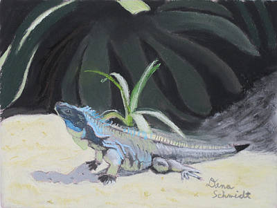 Painting - Iquana Lizard At Sarasota Jungle by Dana Schmidt