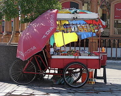 Photograph - Iquique Chile Street Cart by Brett Winn