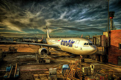 Photograph - Iran Air Airbus A330-200 Art by David Pyatt