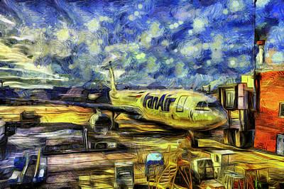 Photograph - Iran Air Airbus A330 Van Gogh by David Pyatt