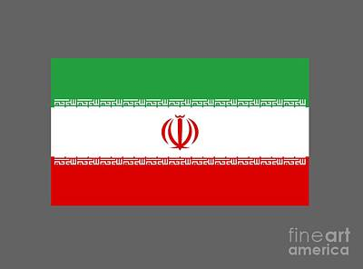 Colored Pencils - Iran Flag by Frederick Holiday