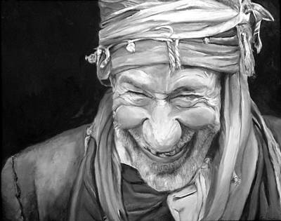 Elderly Painting - Iranian Man by Enzie Shahmiri