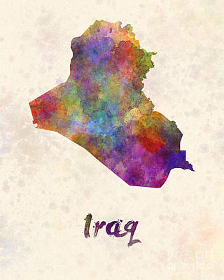 Iraqi Painting - Iraq In Watercolor by Pablo Romero