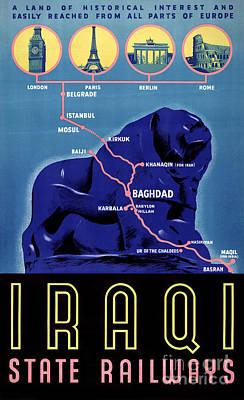 Iraq Painting - Iraq Vintage Travel Poster Restored by Carsten Reisinger