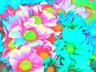 Broadcast Painting - Iredescent Florals by Catherine Lott