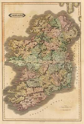 Old Country Roads Drawing - Ireland 1831 by Mountain Dreams