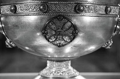 Photograph - Ireland Ardagh Chalice Macro Irish Relics And Treasures Black And White by Shawn O'Brien