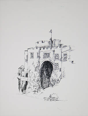 Horse And Cart Drawing - Ireland Castle 2 by Dixie Trent