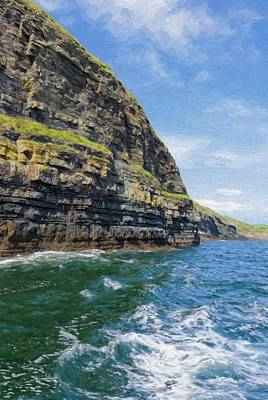 Ireland Cliffs Art Print