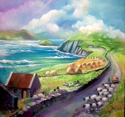 Painting - Ireland Co Kerry by Paul Weerasekera