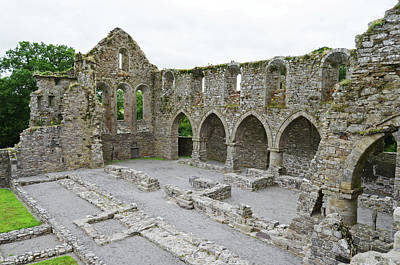 Ireland Photograph - Ireland Jerpoint Abbey Irish Church Medieval Ruins County Kilkenny by Shawn O'Brien