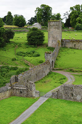 Photograph - Ireland Kells Priory Outer Wall Gatehouse And Fortified Tower County Kilkenny by Shawn O'Brien