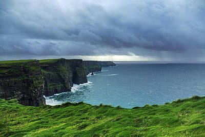 Photograph - Ireland - Rain At The Cliffs by Bill Jordan
