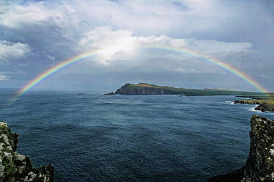 Photograph - Ireland Rainbow At Slea Head 1 by Bill Jordan