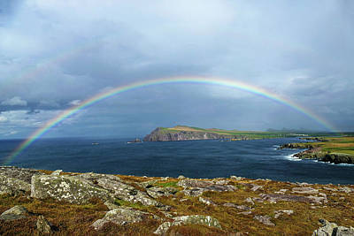 Photograph - Ireland Rainbow At Slea Head 4 by Bill Jordan