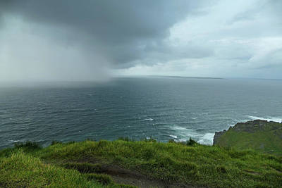 Photograph - Ireland - Storm At The Cliffs by Bill Jordan