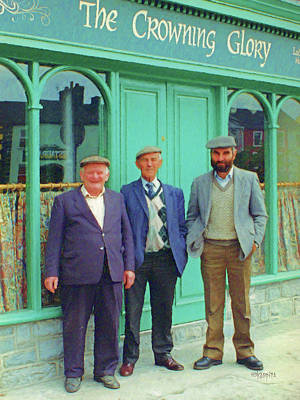 Photograph - Ireland - Three Irish Blokes - The Crowning Glory Pub by Rebecca Korpita