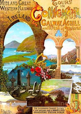 Painting - Ireland Travel Poster by Roberto Prusso