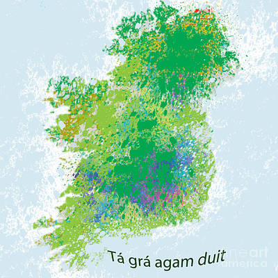 Digital Art - Ireland by Trilby Cole