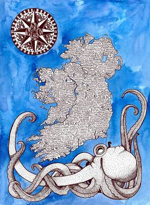 Ireland Word Map Original by Terri Kelleher