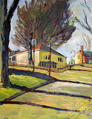 Infirmary On Morgan And Coldbrook Art Print by Charlie Spear