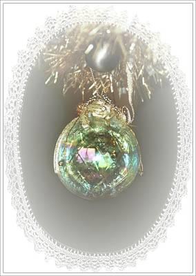 Photograph - Iridescent Christmas Ball by Ellen O'Reilly