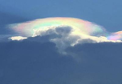 Photograph - Iridescent Cloud  by Richard Bryce and Family