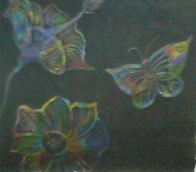 Iridescent Drawing - Iridescent In The Night by Marie Scarpelli