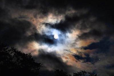 Photograph - Iridescent Moon by Kathryn Meyer
