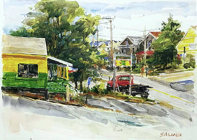 Painting - Irie Eats, Provincetown by Peter Salwen