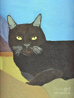 Painting - Irina The Cat In Southern California by Julia Hanna
