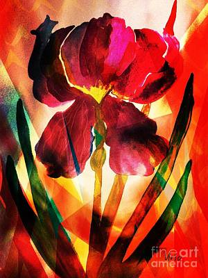 Painting - Iris 17-01 by Maria Urso