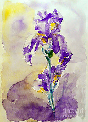 Art Print featuring the painting Iris 2 by Jasna Dragun