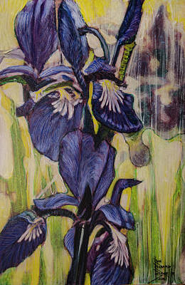 Painting - Iris-2016 by Ron Richard Baviello
