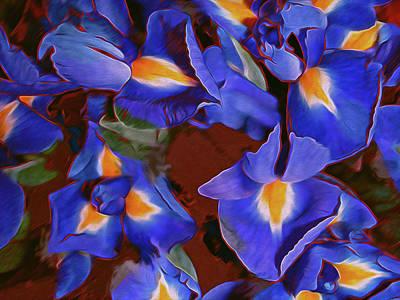 Digital Art - Iris Abandon 15 by Lynda Lehmann
