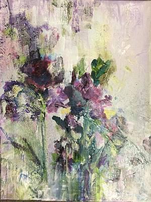Painting - Iris Abstract by Karen Ahuja
