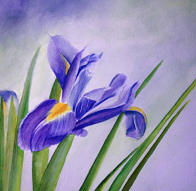 Art Print featuring the painting Iris by Allison Ashton