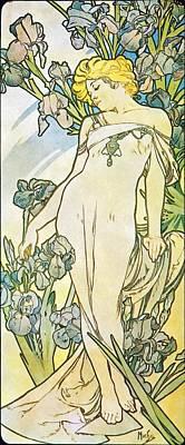 Painting - Iris by Alphonse Mucha