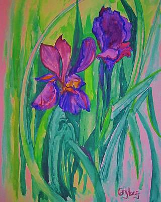 Painting - Iris Also by Cathy Long