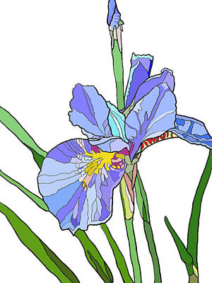 Painting - Iris And Bud by Jamie Downs