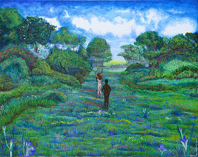 Iris And Vern Art Print by Tom Hefko