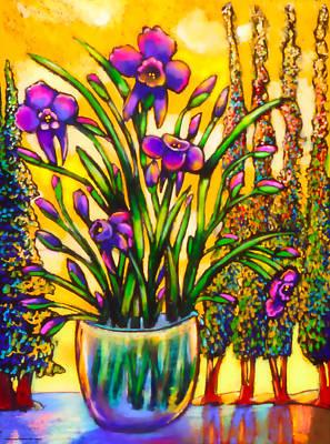 Iris Art Print by Angelina Marino