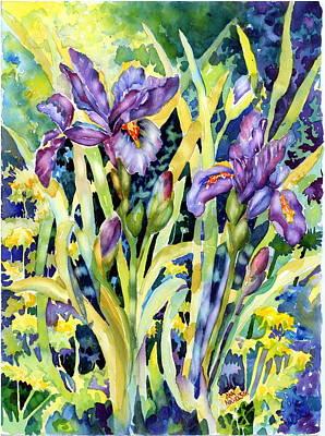 Iris Art Print by Ann  Nicholson