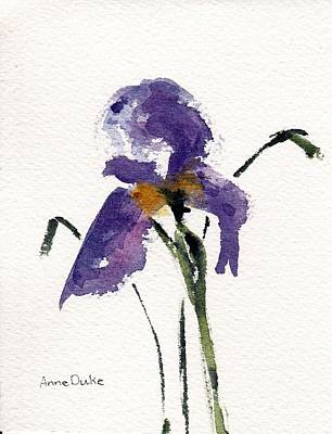Spring Bulbs Painting - Iris  by Anne Duke