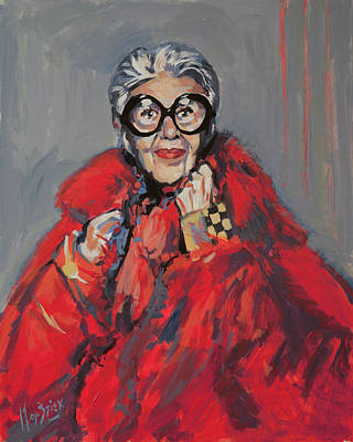 Painting - Iris Apfel Style Icon by Nop Briex