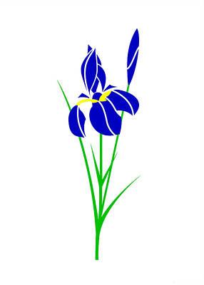 Iris Art Print by Asbjorn Lonvig