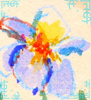 Digital Art - Iris Bloom by Carol Oufnac Mahan