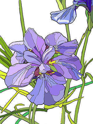 Painting - Iris Blossoms by Jamie Downs